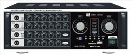 Martin Ranger MA-2500K 1000W Professional Digital Stereo Echo Mixing Amplifier with Built-In Bluetooth, USB and SD Media Player