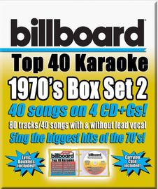 Party Tyme Karaoke CDG SYB4490EG  - BILLBOARD 1970 TOP 40 Set