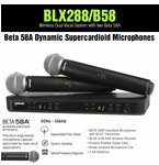 Shure BLX288/B58 Dual Wireless System with two BETA 58A Microphones