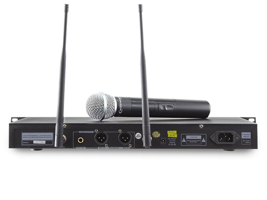 technical pro wm1201 dual uhf wireless microphone system. Black Bedroom Furniture Sets. Home Design Ideas
