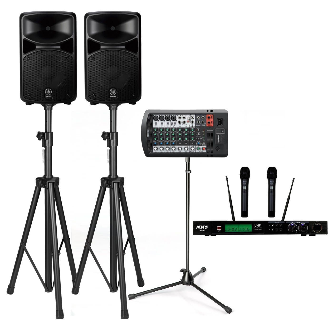 yamaha stagepas 600bt 680w pa system with stands atny at. Black Bedroom Furniture Sets. Home Design Ideas