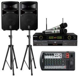Yamaha Stagepas 600BT PA 680w System W/Bluetooth, Acesonic DGX-220 HDMI Karaoke Player & UHF-5200 Microphone