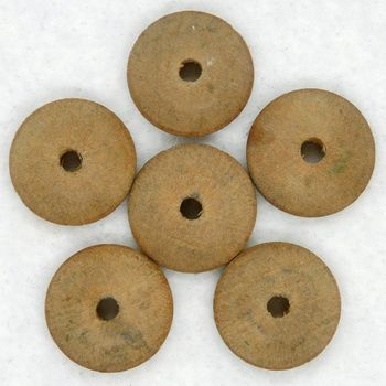 "6 Vintage 9/16"" Domed Wooden Button Forms"