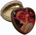 """Angel And Lady"" Mini Heart Tin Box"