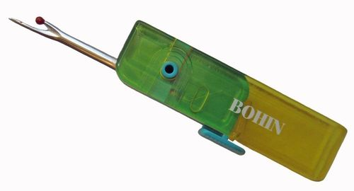 Bohin Folding Seam Ripper Yellow/Turquoise