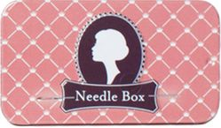 Pink Slide Top Needle Tin
