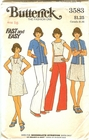 Butterick 3583 Dress, Sweaters & Pants For Knits, Bust 38""