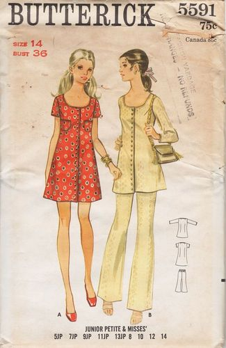 Butterick 559114 Dress, Tunic & Pants, Bust 36""