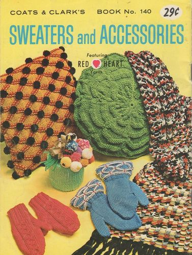 Vintage Coats & Clark's #140 Sweaters & Accessories
