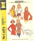 McCall's 2944 Blouses, Bust 38""