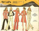 McCall's 332338 Tunics, Blouses & Pants For Knits, Bust 38""
