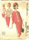 McCall's 6237 Suit & Scarf, Bust 34""