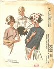 """McCall's 6583 Blouse, Bust 31"""""""