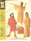 McCall's 8399 Robes, Slippers & Boots, Large