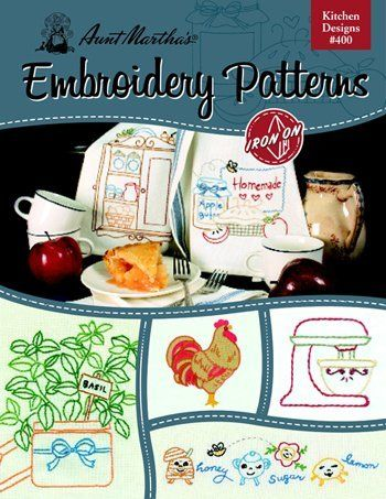 Aunt Martha's Kitchen Designs Embroidery Transfer Book