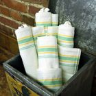 Retro Green/Yellow Stripe Towels to Embroider