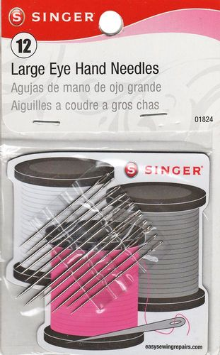 Singer Large Eye Hand Needles w/Magnetic Pad