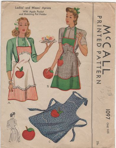 McCall 1097 Apron w/Apple Pocket, No Instructions