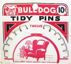 Vintage Bull Dog Tidy Pins