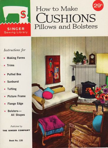 Vintage Singer How To Make Cushions, Pillows & Bolsters