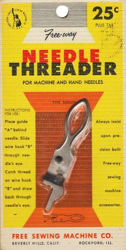 Vintage Free-Way Needle Threader for Machine & Hand Needles