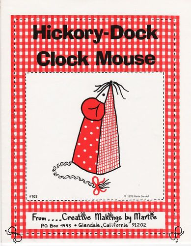 Vintage Hickory-Dock Clock Mouse #103