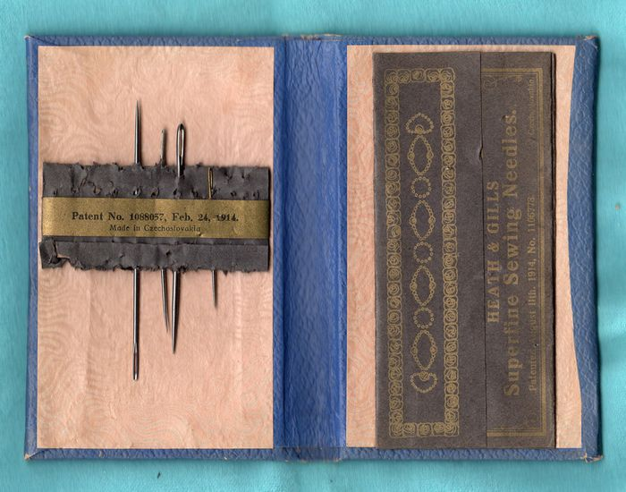 Vintage Faux Leather Needle Book