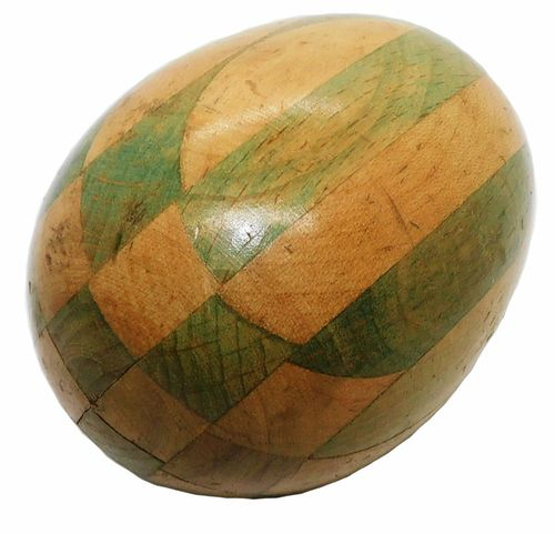 Vintage 3-Tone Woodend Inlay Darning Egg