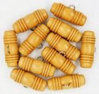 "11 Vintage Wooden ""Barrel"" Toggle Buttons"