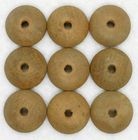"9 Vintage 3/4"" Domed Wooden Button Forms"