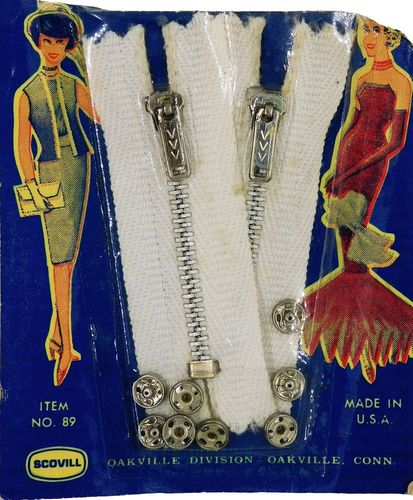 Vintage Scovill Zippers & Snaps for Dolls
