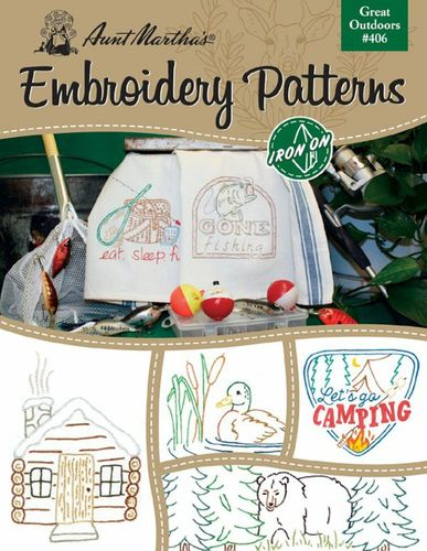 **NEW** Aunt Martha's Great Outdoors Emroidery Transfer Book