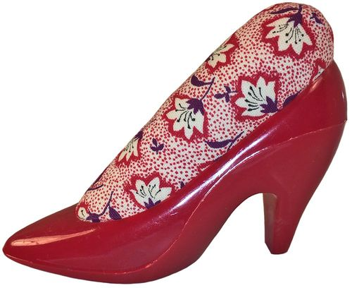 Red Shoe w/Floral Pincushion