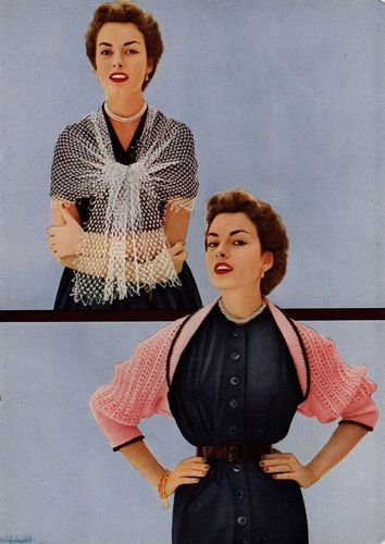 Vintage Star Stoles & Shawls for Hairpin Lace, Knitting & Crochet Book #86