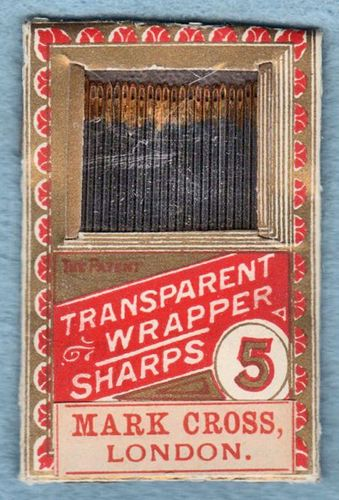 Vintage Mark Cross Sharps Hand Sewing Needles Size 5