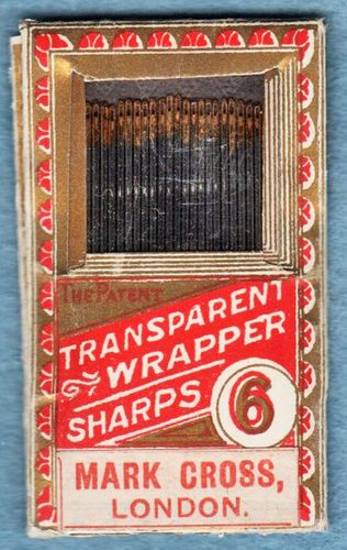 Vintage Mark Cross Sharps Hand Sewing Needles Size 6