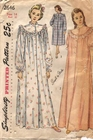 """Simplicity 2646 Nightgown, Bust 32"""""""