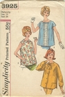 """Simplicity 3925 Maternity Blouse, Bust 34"""""""