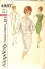 """Simplicity 4687 Dress W/Jacket & Over-Blouse, Bust 36"""""""