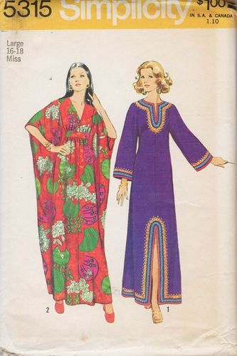 """Simplicity 5315 Caftans, Large, Bust 38""""- 40"""""""