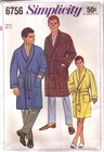 Simplicity 6756 Robe, Size Large