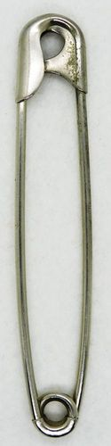 """Vintage 3 7/8"""" Safety Pin w/Guarded Coil"""