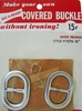 Vintage Bac-A-Brand Covered Buckle-Oval