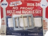 Vintage Bac-A-Brand No-Prong Belt & Buckle Set