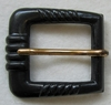 Vintage Black Plastic Belt Buckle w/Prong
