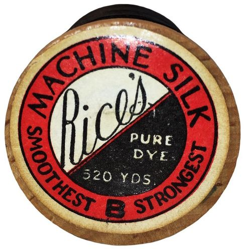 Vintage Black Rice's Machine Silk Thread