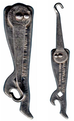 Vintage Boot Shaped Folding Button Hook/Bottle Opener/Wrench