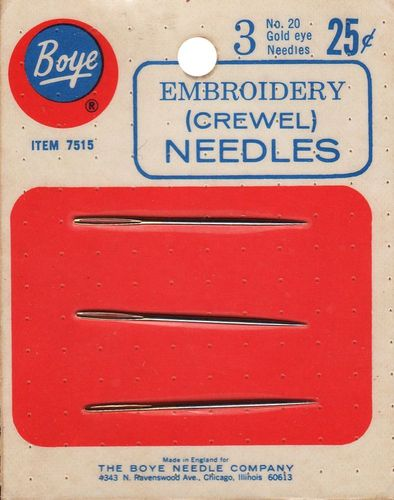 Vintage Boye Embroidery/Crewel Needles #20
