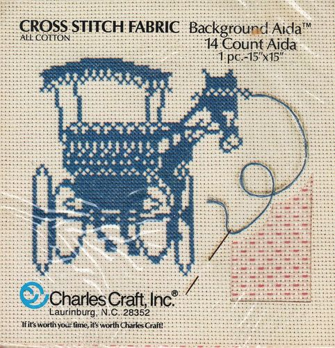 Vintage Charles Craft Patterned Background Aida Cross Stitch Fabric