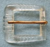 Vintage Clear Plastic Belt Buckle w/Prong